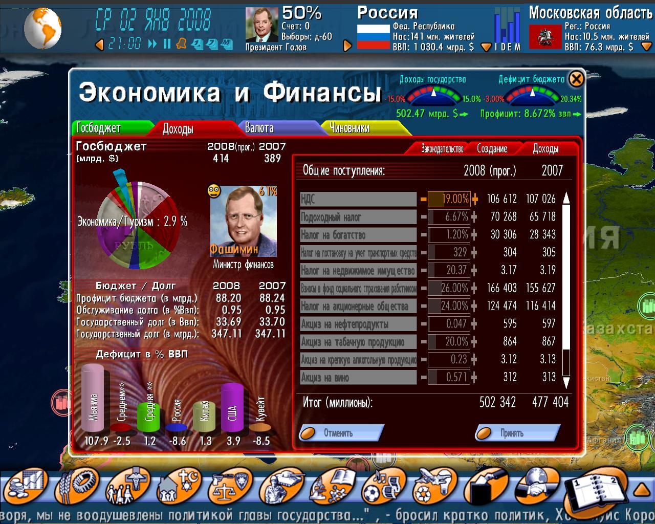 Игра Выборы-2008 Геополитический Симулятор